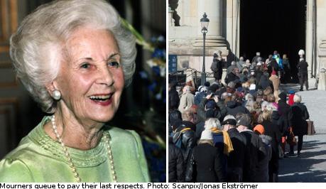 Sweden set for Princess Lilian farewell