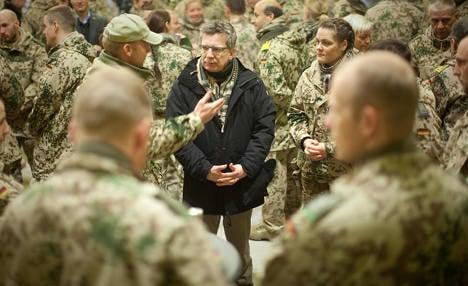 Defence minister visits Afghanistan