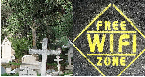 Spanish cemetery switches on free Wi-Fi