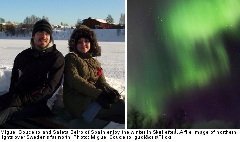 'The northern lights are simply spectacular'