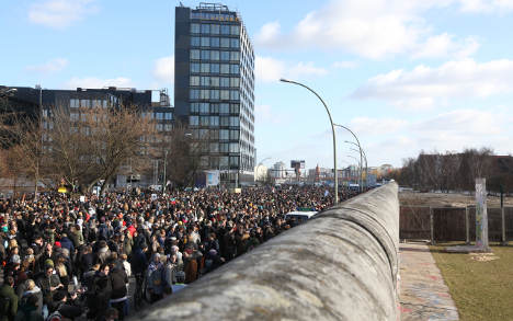 Berlin Wall protests criticized
