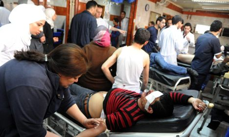 Syrian wounded fly to Germany for help