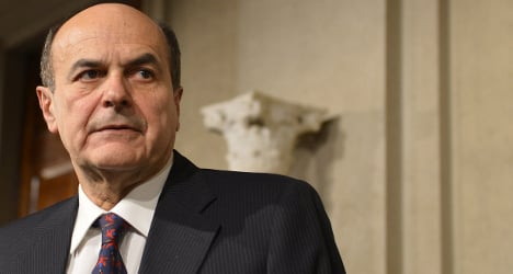 Italy's centre-left leader Bersani to resign