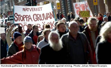 Hundreds protest Sweden's mining boom