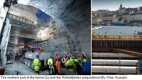 Stockholm's new train line heads under water