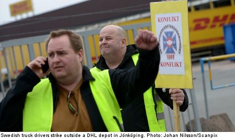 Swedish truck drivers call off national strike