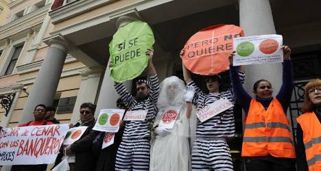 Anti-eviction protestors bring fight home