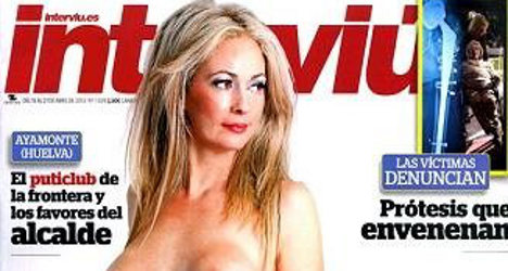 Disgraced ex-politician goes topless for mag