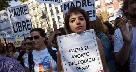 Spain's left slams abortion law changes