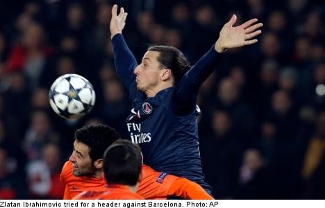 Zlatan soars in PSG draw against Barcelona