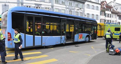 Passenger presses brake to stop driverless bus