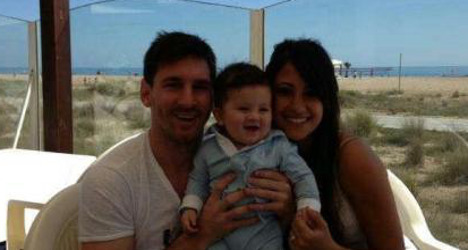 First glimpse of mini Messi goes viral