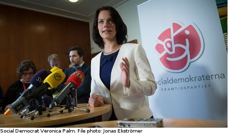Palm re-elected by Social Democrats in Stockholm