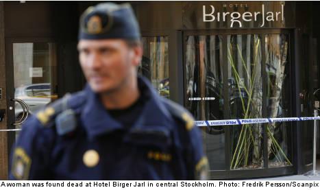Suspected murder at Stockholm hotel