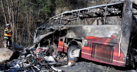 Fatal Alps bus crash blamed on 'brake failure'