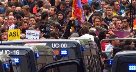 Jobless anger boils over in Madrid protest