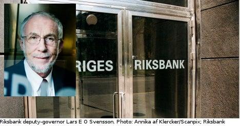 Deputy Governor leaves Riksbank in rate protest