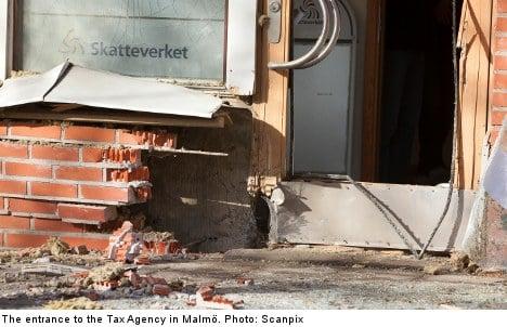 Mystery explosion rocks Swedish tax office