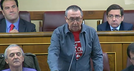 Stripping MP, 54, heats up Spanish parliament