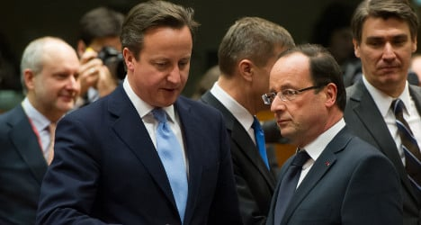 UK PM cancels Paris visit after Thatcher death