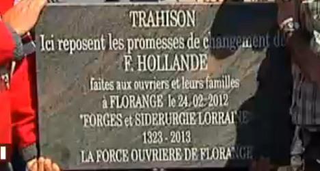 Workers mourn 'broken promises' of Hollande