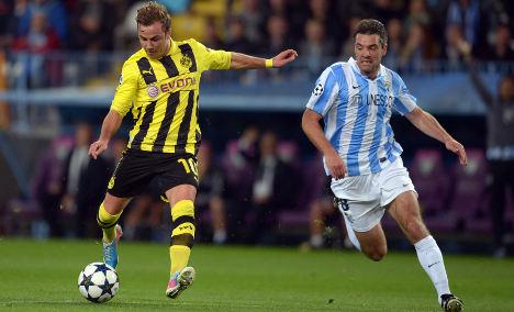Dortmund's misfiring Götze rues Malaga draw