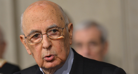 Napolitano re-elected to tackle deadlock
