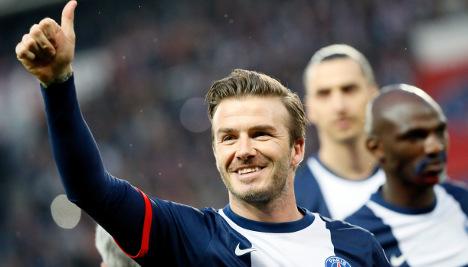 Ancelotti praises 'great pro' Beckham