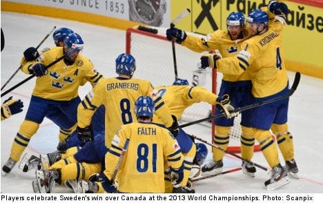 Sweden ousts Canada in dramatic hockey win