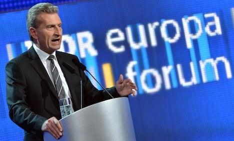 EU's Oettinger says Europe ripe for 'overhaul'