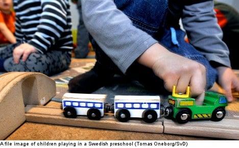 Wanted: Men to work in Swedish preschools
