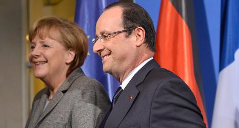 Jobs crisis tops agenda as Merkel heads to Paris
