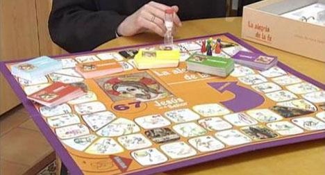 Spanish nun places faith in Jesus board game