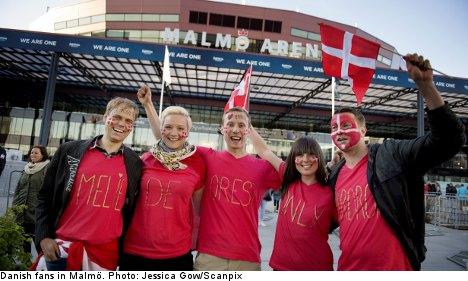 Danes invade Sweden for Eurovision final
