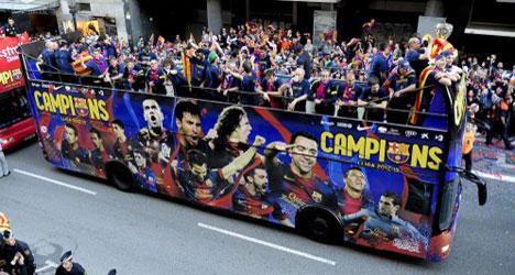 Official slams Barça for boozy bus tour