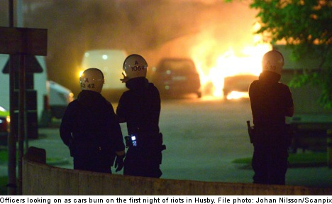 Stockholm riots spread south on fourth night