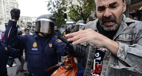 Riot cop force tops Spanish list of shame