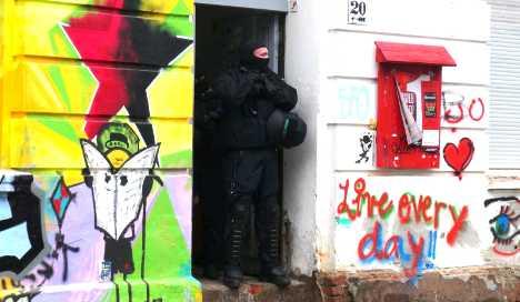 Police raid suspected leftist extremists