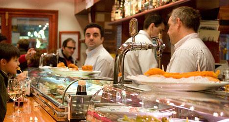 Spain has one bar for every 132 inhabitants