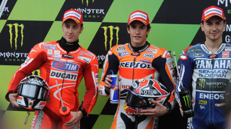 Spanish rider Marquez on pole in France