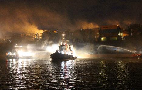 Burning ship had tonnes of radioactive material