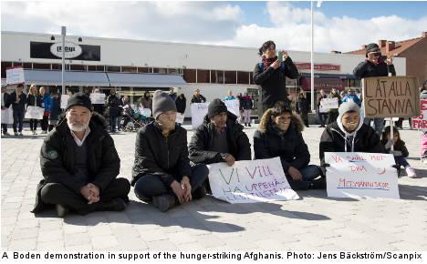 Afghan hunger strikers denied asylum