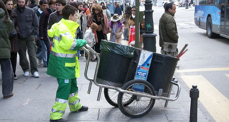 Illegal clothing bins stitch up Spaniards