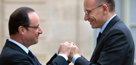 Italy's Letta and French PM gang up on austerity