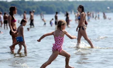 Germans bathe easy in clear waters