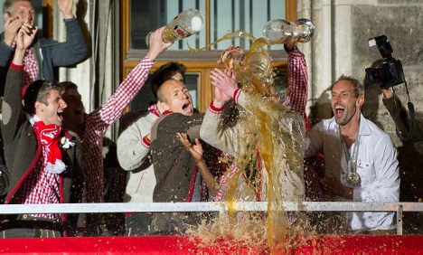 Bayern fans celebrate Bundesliga win