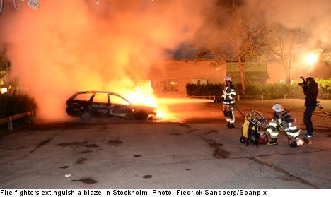 Thirty fires in third night of Stockholm riots