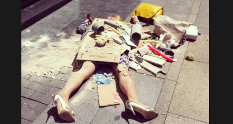 Spanish artist fights for fashion's real victims