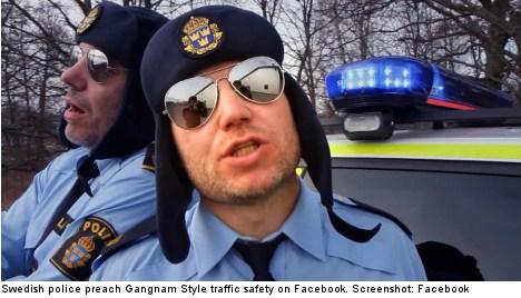 Swedish cops bask in Gangnam Style viral glow