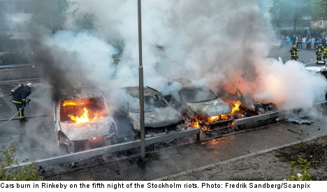 Schools burn on fifth night of Stockholm riots